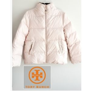 Tory Burch Pink Puffer Coat S